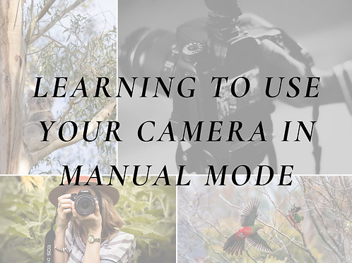 Learn to use your Camera in Manual Mode - Class