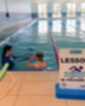 heated swimming pool and swimming lessons