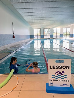 Swimming lessons avaliable to country club members at Hidden Valley resort, Wallan Victoria
