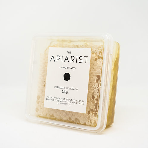 The Apiarist Raw Honey with Honeycomb 350g