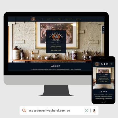 Macedon Railway Hotel Website Design by KGMG Creative Macedon Ranges