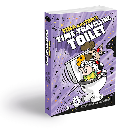Tina and Tom's Time Travelling Toilet, Illustrated Children's Book