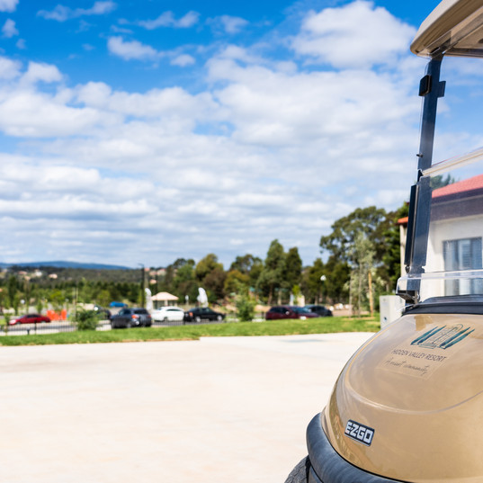 Hidden valley resort golf buggy part of the premium faclities on offer at La Dimora retirement village one hour north of Melbourne