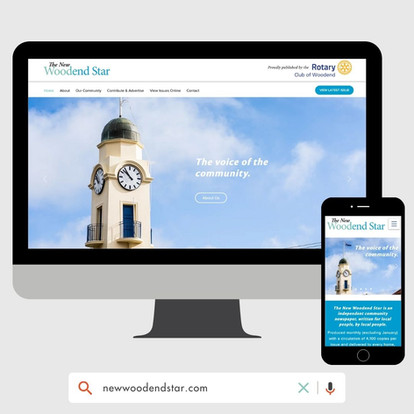 The Woodend Star Website Design by KGMG Creative Macedon Ranges