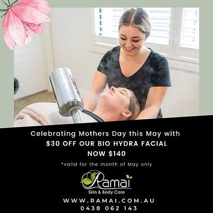 Mother's Day facial promo