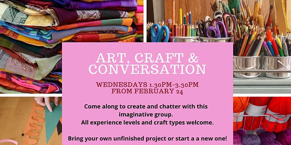Art, Craft & Conversation - Wednesdays 1.30pm