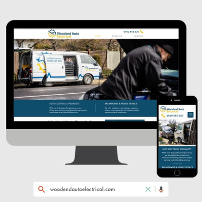 Woodend Auto Electrical Website Design by KGMG Creative Macedon Ranges