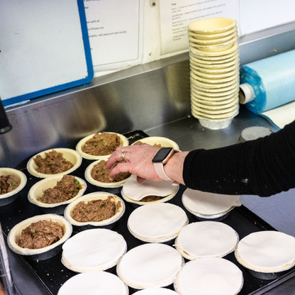 Mount Macedon Trading Post cafe prepping house baked pies
