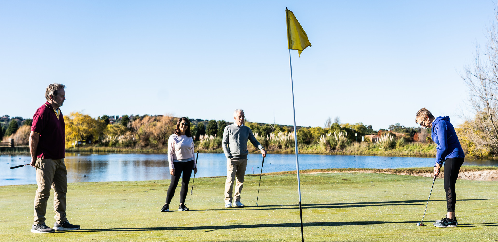 residents from La Dimora Retirement Resort on the PGA golf course enjoying a round