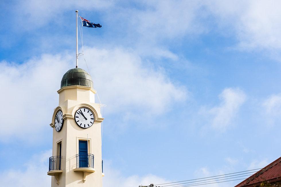 Woodend Village Clocktower Victoria,, Photo by KGMG Creative
