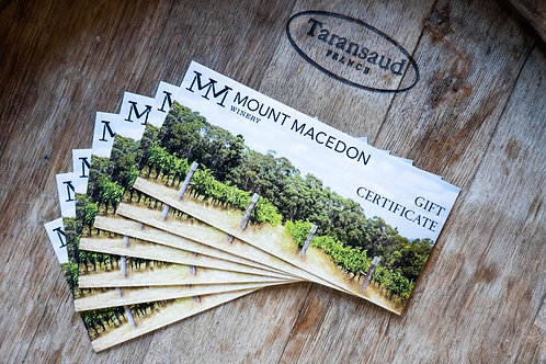 Mount Macedon Winery Gift Voucher - From $50