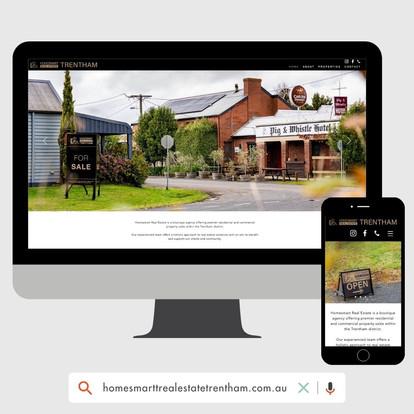 Homesmart Real Estate Trentham Website Design by KGMG Creative Macedon Ranges