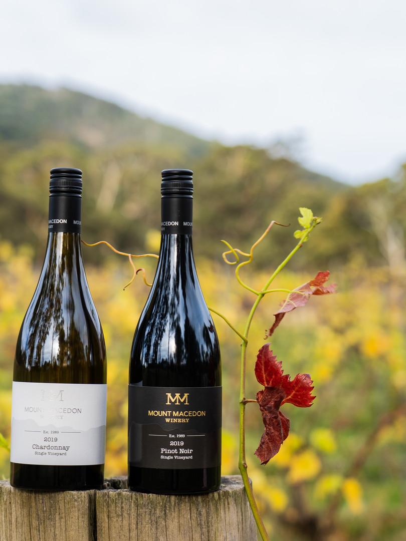 Mount Macedon Winery Chardonnay and Pinot noir