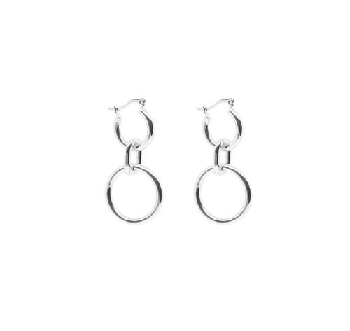8e65e3b5e Gigi Hoop Earrings - Silver