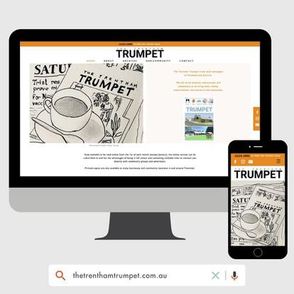 The Trentham Trumpet Website Design by KGMG Creative Macedon Ranges