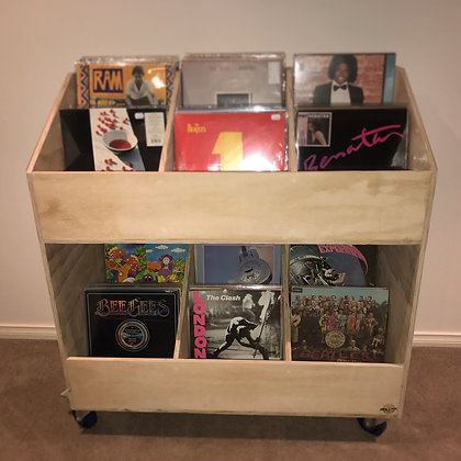 3 x 3 Vinyl Record Display Cabinet with tiered shelving