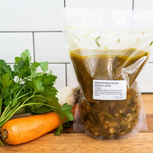 Mushroom & Pearl Barley Soup 1.5Litres