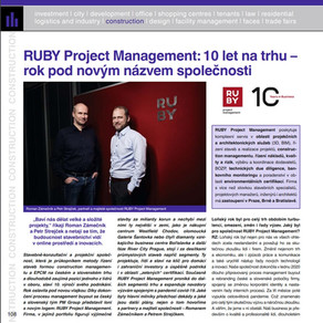 RUBY Project Management in Building World magazine