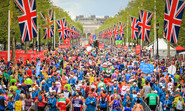 The London Marathon - in 2019 runners left behind 350,000 plastic bottles scattered along the city's roads.