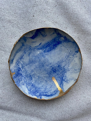 Gold-Edged Marbled Dish
