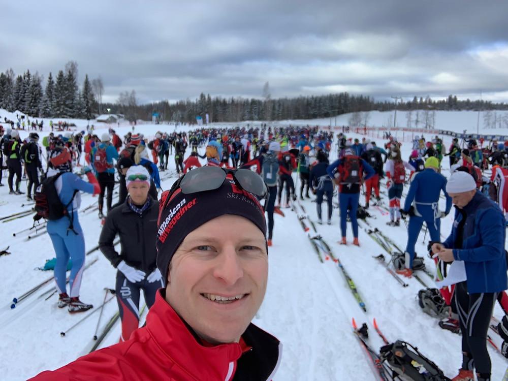 Skier waiting to start the Birkebeinerrennet in Rena, Norway