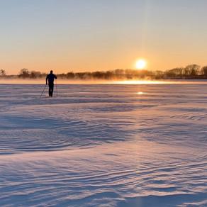 Sunset Pond Ski on a Frigid MN Day