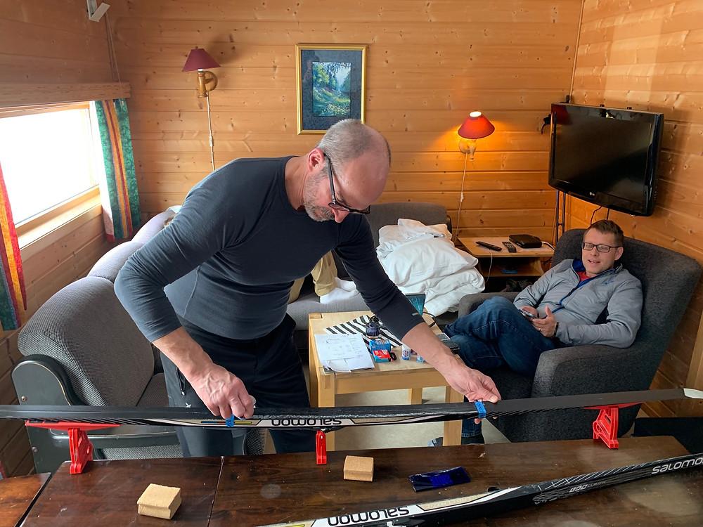 Waxing classic skis