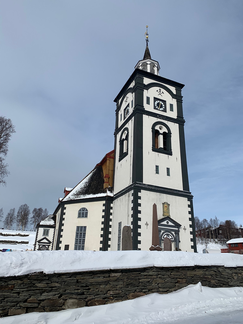 The church in historic Røros, Norway.