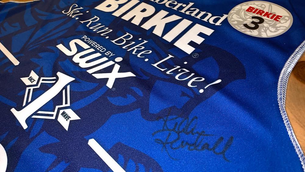 2019 Birkie race bib signed by Olympic Gold Medalist Kikkan Randall.