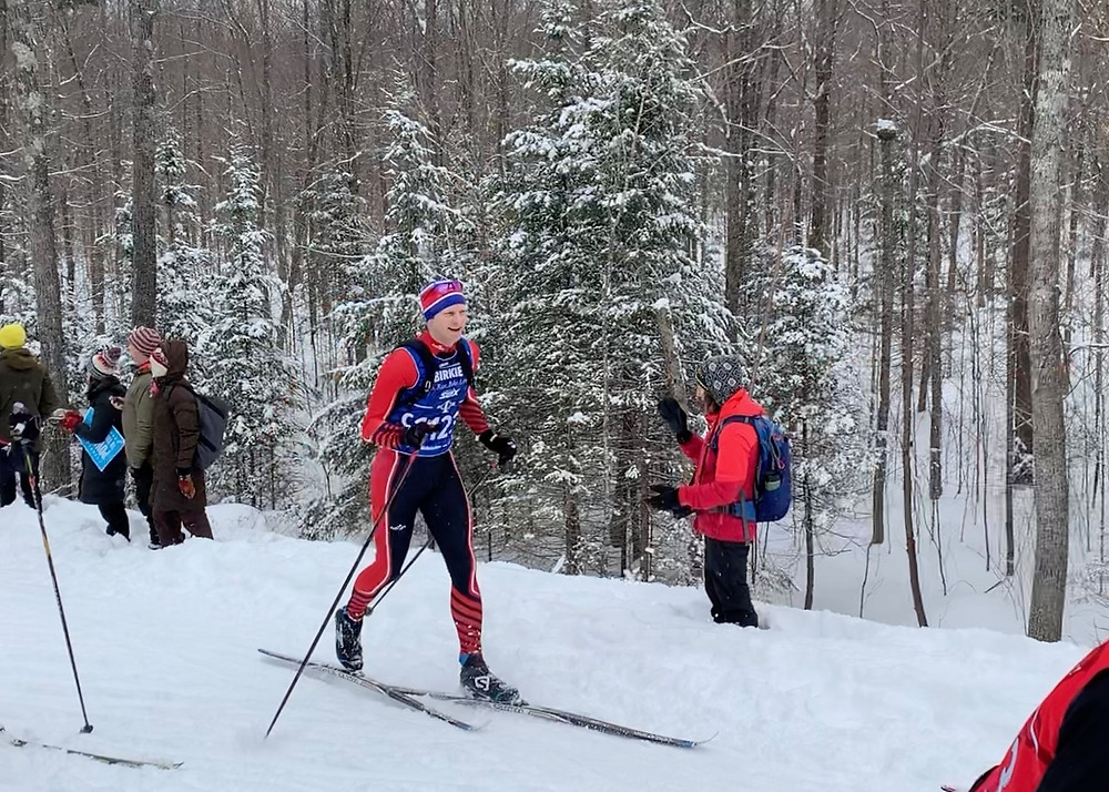 XC Skiing on the Birkie Trail at the OO in the 2019 American Birkebeiner ski marathon.