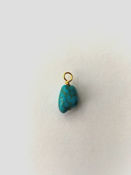 Huggie charm - turquoise nugget  /2 options