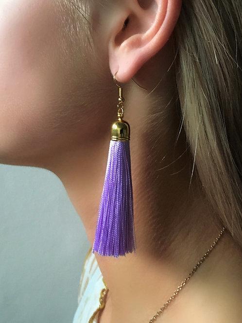 Classic tassel earrings - lilac