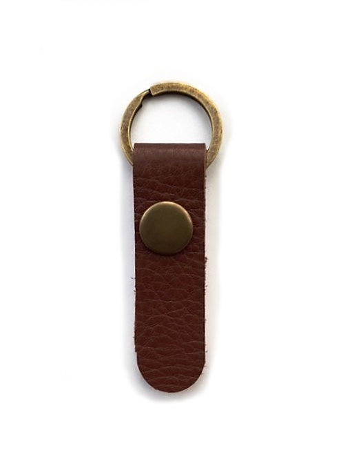 leather key fob/chestnut - 10 options
