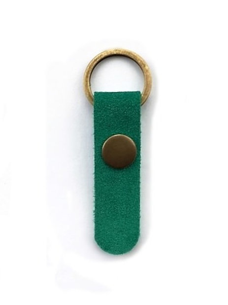 suede leather key fob/emerald - 10 options