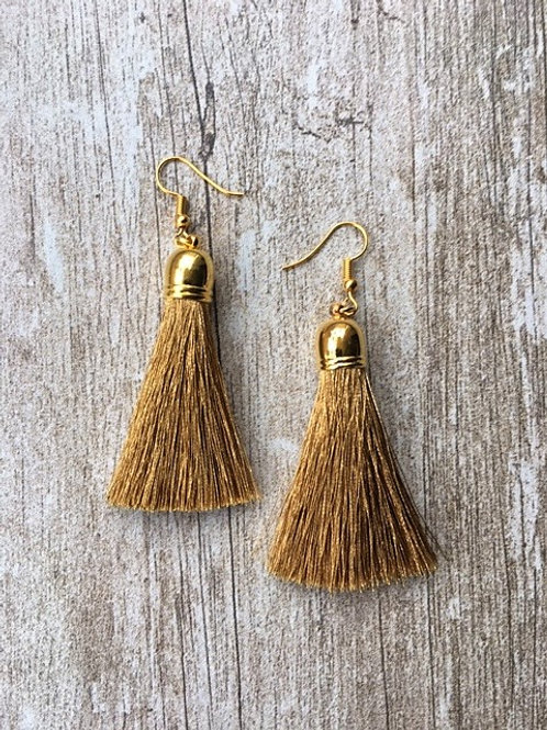 Classic tassel earrings - gold