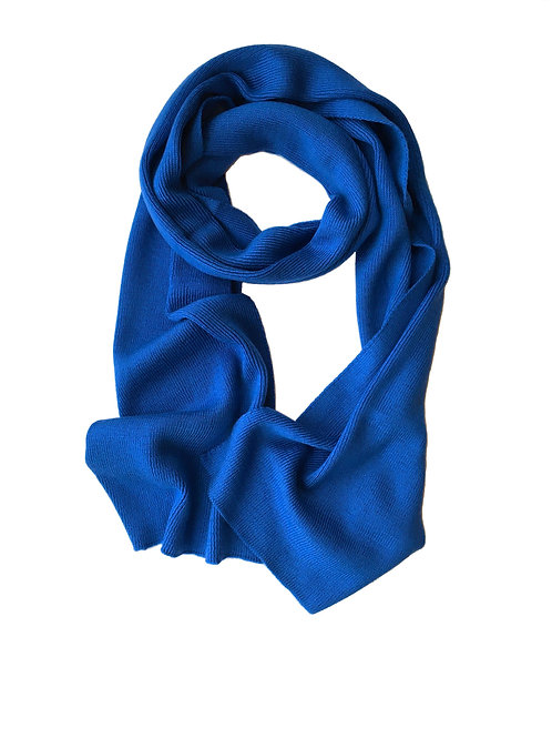 Cashmere blend knitted scarf - blue