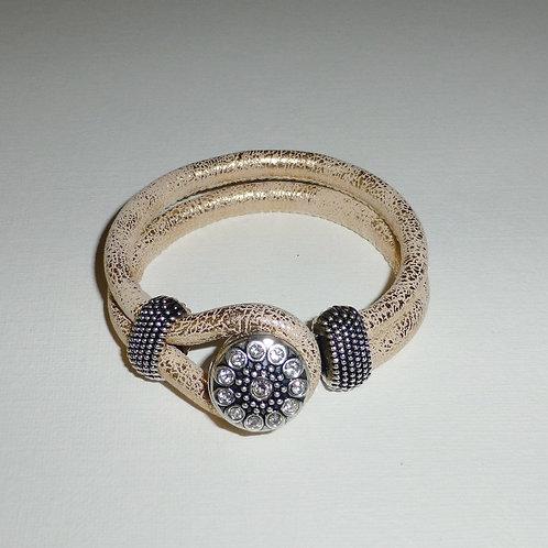 gold leather snap bracelet - 8 variations