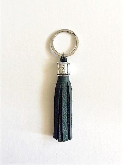 classic leather key ring tassel - bottle - 2 options
