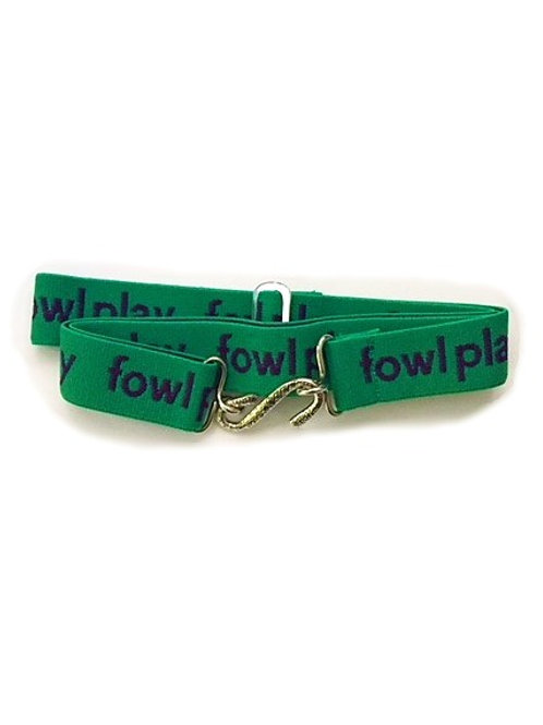 snake belts - fowl play logo