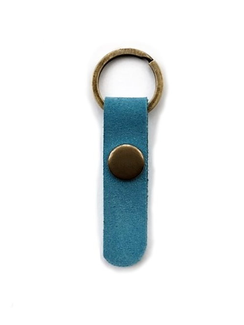 suede leather key fob/denim blue - 10 options