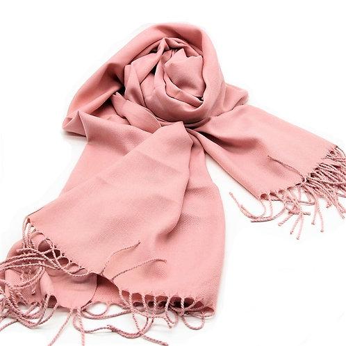 pale pink pashmina scarf