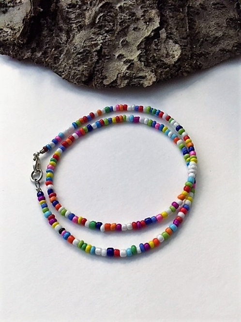 colourful sead bead necklace 16""
