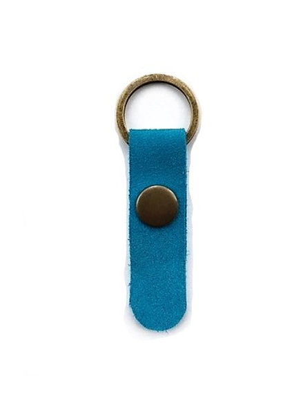 suede leather key fob/turquoise - 10 options