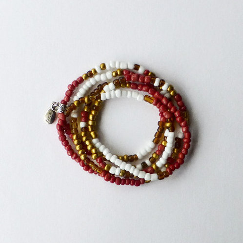 wrap seed bead bracelet/necklace - african inspired