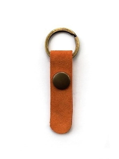 suede leather key fob/orange - 10 options