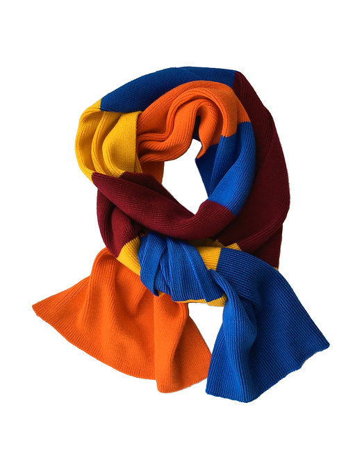 Cashmere blend knitted scarf - stripe
