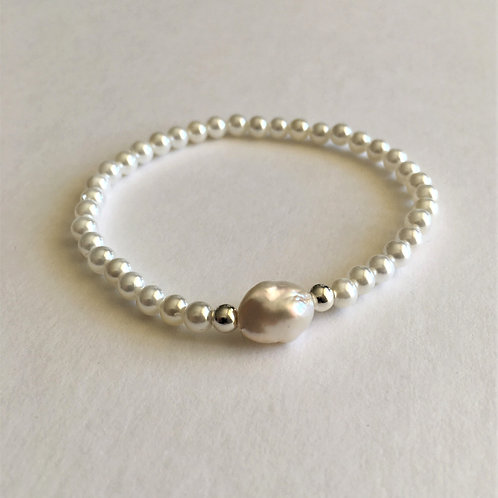 ivory pearl bracelet