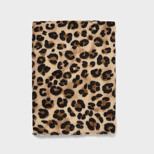 leopard print pashmina scarf - only 2 left