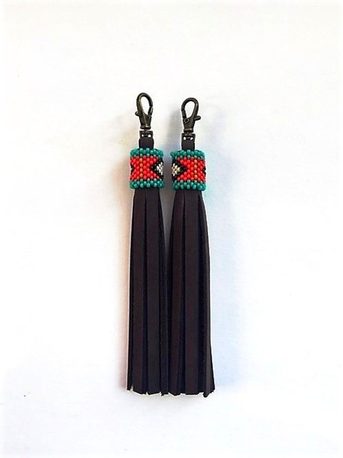 Boot tassels with beaded top
