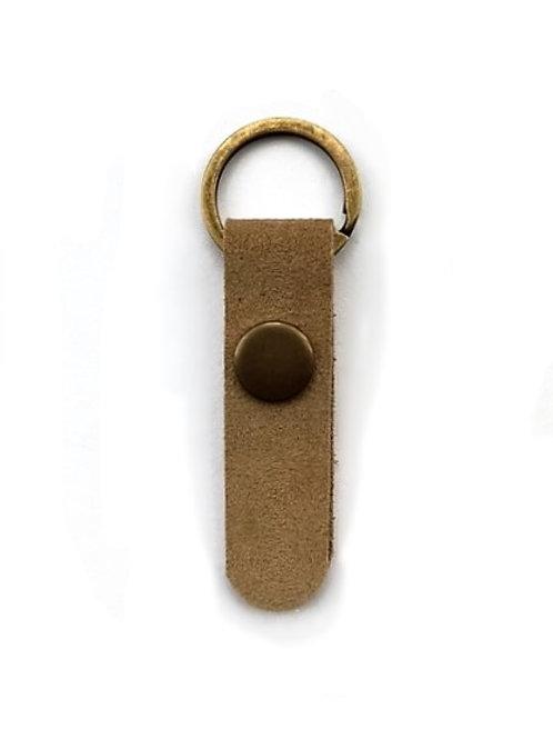 suede leather key fob/walnut - 10 options